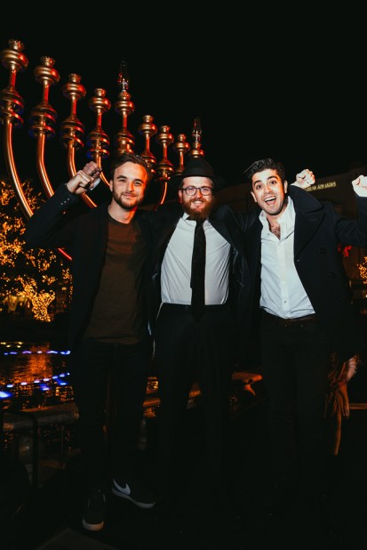 Grand Menorah lighting at The Grove on the first night of Chanukah. Hosted by Rabbi Zalmy Rebbetzin Chana Fogelman of Village Synagogue (8)