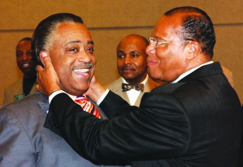 Reverend Al Sharpton and Minister Louis Farrakhan (Photo by R. Diamond/WireImage)