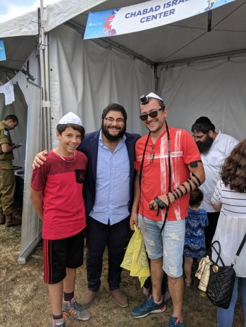 Chabad Israel Center Tefillin booth