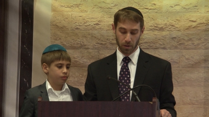 Dovid and Yitzy Levine, Grandson-in-law and great grandson